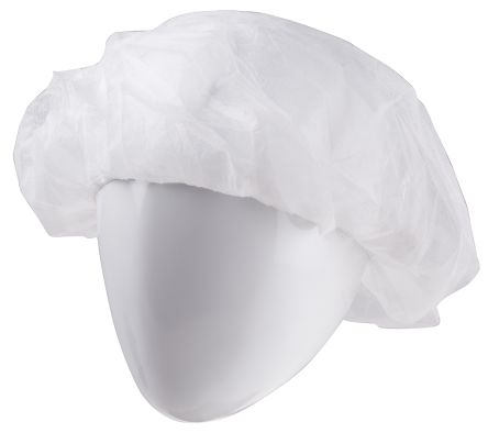 RS PRO White Disposable for Electronics, Food Industry, Pharmaceutical Use Polypropylene Hair Net Cleanroom Use