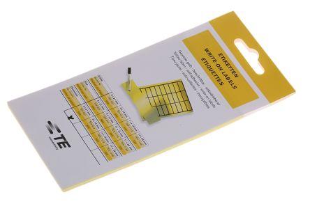 TEK 821 | Leeretikett, selbstklebend Gelb, 8 x 21mm, 640 | RS Components