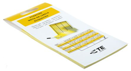 Idento Black/Yellow Address Label, 11 x 38mm, Pack of 220