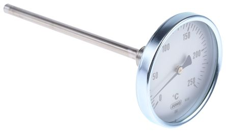 Dial Thermometer, Centigrade Scale, 0 → +250 °C Immersion