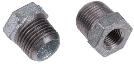 """1//2/"""" X 3//8/"""" BSP Reducing Tee Black Malleable Iron Pipe Fitting"""