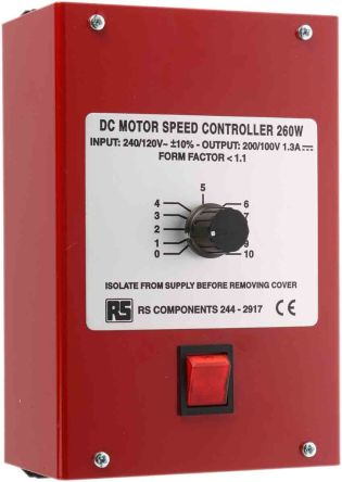 RS PRO, DC Motor Controller, Potentiometer Control, 110 V ac, 240 V Ac Potentiometer Wiring on