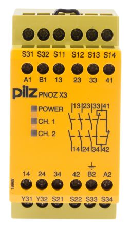 F2451848 01 pnoz x3 24vac 24vdc 3n o 1n c 1so pnoz x safety relay, dual pnoz x4 wiring diagram at soozxer.org