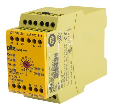 F2451905 02 pnoz xv2 30 24vdc 2n o 2n o t pnoz x safety relay, dual channel pnoz xv2 wiring diagram at edmiracle.co