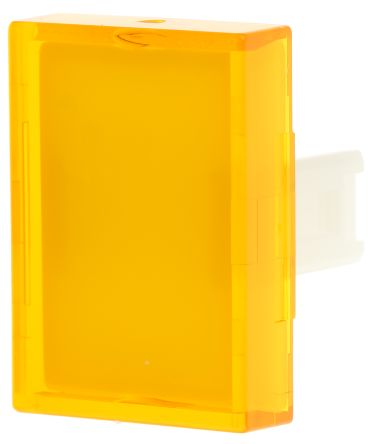 Yellow Rectangular Push Button Lens for use with 31 Series