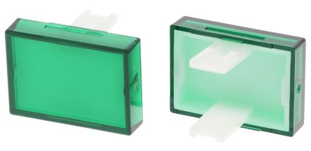 Green Rectangular Push Button Lens for use with 31 Series