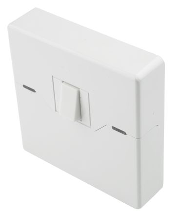 Rocker Light Switch >> White Wall Mount Rocker Light Switch White 26 Mm 2 Way Screwed Satin 1 Gang Bs Standard 86mm Led Ip20 Polycarbonate