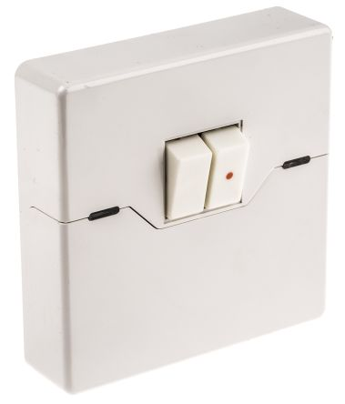 White wall mount rocker light switch white 26 mm 2 way screwed main product aloadofball