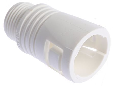Adaptaflex Straight Cable Conduit Fitting, Polyamide White 20mm nominal size IP65 M20