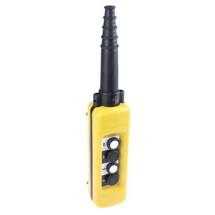 Schneider Electric 4NO 4 Push Button Pendant Station 3 A ac, 270 mA dc Yellow, 600V, IP65 4 Black, White Down Arrow,