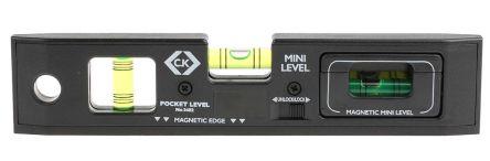 Black plastic 3 vial pocket sprit level