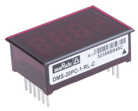Murata Power Solutions Digital Voltmeter, LED Display 3.5-Digits, 34 x 22 mm