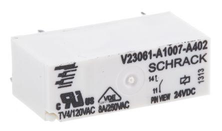 Relais Schrack TE CONNECTIVITY V23061-A1007-A402 24V