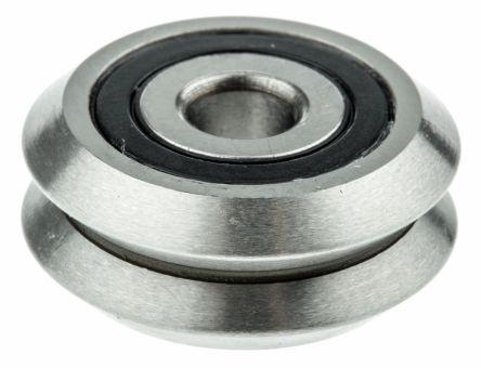 SAE 52100 steel V guide wheel,19.55mm