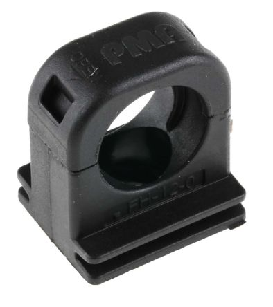 12mm 25 x Black Nylon Plastic P Clips Cable Fasteners for Conduit Tubing /& Sleeving