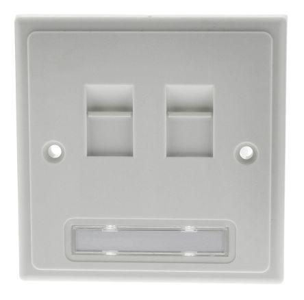 2xRJ45 unshielded individual faceplate