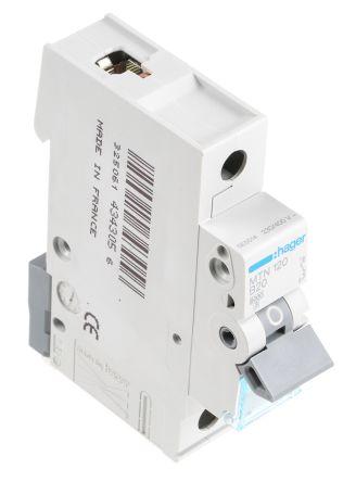 Hager 20A 1 Pole Type B Miniature Circuit Breaker on
