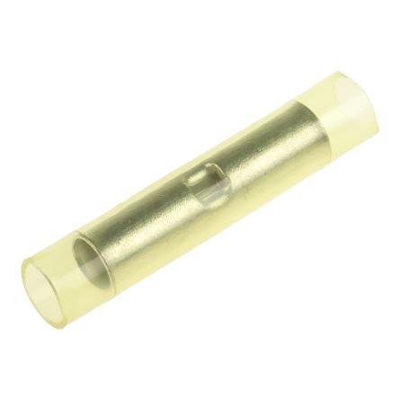 RS Pro Stoßverbinder, gelb isoliert, Ø 6.2mm x 41mm, 12 → 10 AWG ...