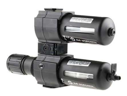 Norgren G 1/2 Filter Regulator Lubricator, Manual Drain, 40μm Filtration Size