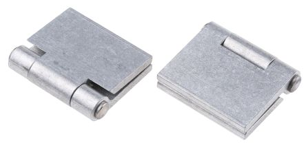 Raw Aluminium Hinge with a Riveted Pin, 32mm x 50mm x 3mm product photo