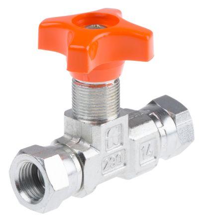 RS PRO Hydraulic Pressure Gauge Isolation Valve, G 1/4 Female