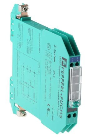 Pepperl + Fuchs 2 Channel Zener Barrier With Analogue Output, 250 V max, 203mA max
