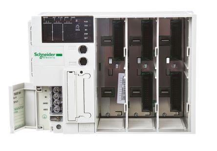PLC,base unit,3 expansion slots,24Vdc,integrated memory