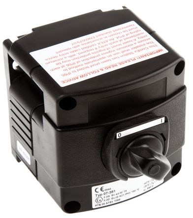 2NO Control Station Switch, IP66, IP67 Black product photo