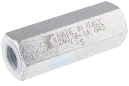 RS PRO Steel Hydraulic Non-Return Valve, G 1/4, 15L/min