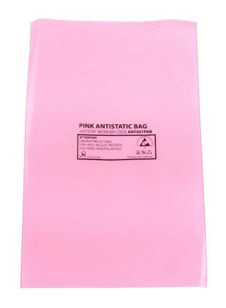 Antistatic pink bag,75x125mm