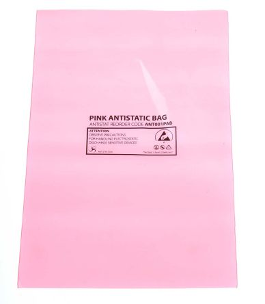 Antistatic pink bag,100x155mm