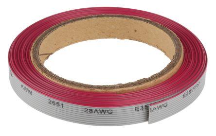 5/metres 10/voies de couleur c/âble ruban 28/AWG