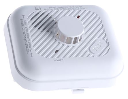 Heat Detector Stand-Alone Heat Detector, Battery, Mains Powered, 85dB