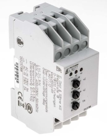 Dold Voltage Monitoring Relay with DPDT Contacts 3 Phase 230400 V