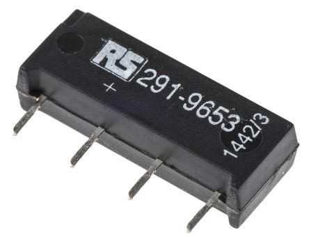 SPNO reed relay,1A 12Vdc coil