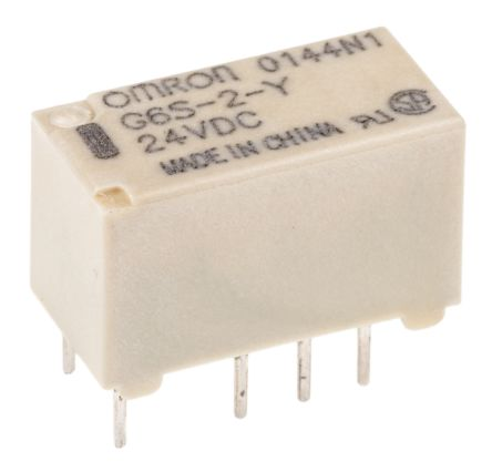 Omron DPDT NonLatching Relay PCB Mount 24V dc Coil 5 A G2R2