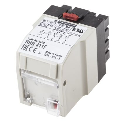 Schneider Electric 4PDT NonLatching Relay 110V ac Coil 5 A