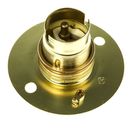Lampholder,brass,unswitched,BC,surface/BESA box mount