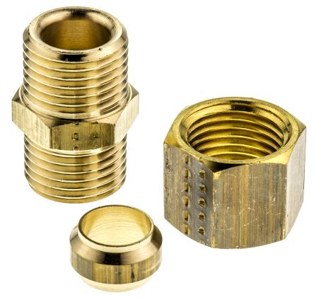 10mm Straight Equal End Coupler Brass Compression Fitting product photo
