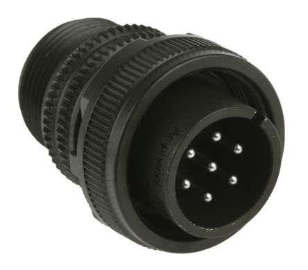 Amphenol MS3106A Series, 7 Way Cable Mount MIL Spec Circular Connector  Plug, Pin Contacts,Shell Size 16S, Screw