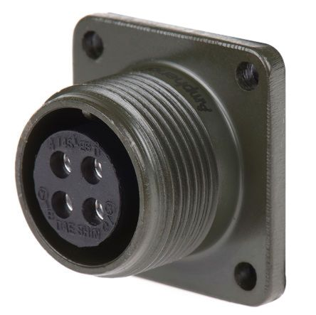 Socapex MS3102A Series, 4 Way Box Mount MIL Spec Circular Connector Receptacle, Socket Contacts,Shell Size 14S product photo