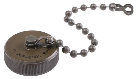 Amphenol, 97 MIL-DTL-5015 Socket Dust Cap, Shell Size 20 IP66 Rated, with Olive Drab Cadmium Finish