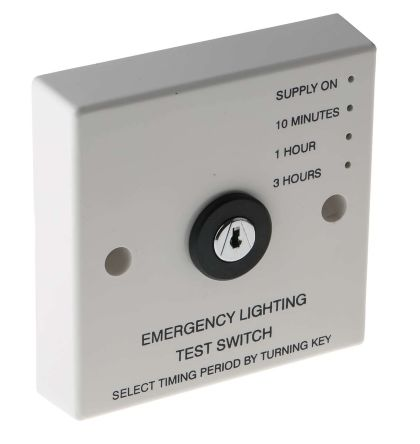 Emergency Light Test Switch, 240 V ac, 1 h, 10 min, 3 h Test Intervals product photo