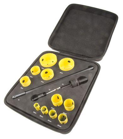 11 piece maintenance HSS hole saw kit