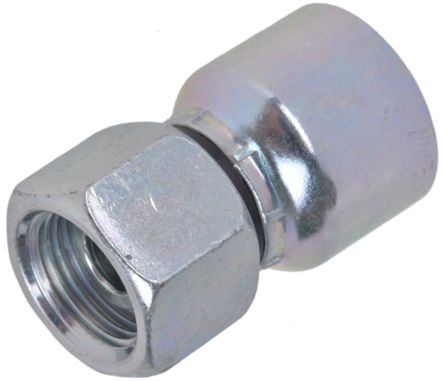 BSP 1/2 Female Straight Steel Crimped Hose Fitting, 275 bar product photo