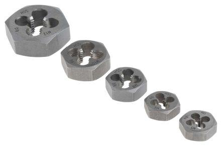 RS PRO 5 piece Carbon Steel M5 → M12 Die Nut Set