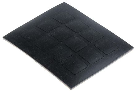 Non Slip Pad 20.5 x 20.5mm Adhesive 20.5mm Polymer +50°C 0°C Square 3mm 20.5mm product photo