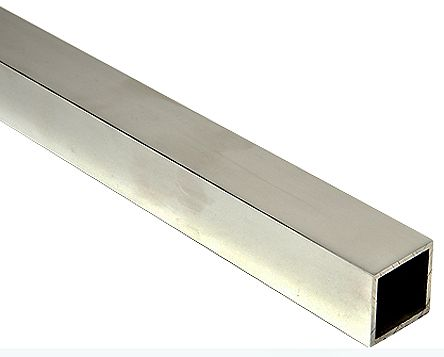 6063 T6 Square Aluminium Tube, 1m x 1.5in, 10SWG product photo