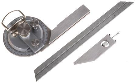 Metric Bevel Protractor, 360° Range, 200mm Stainless Steel Blade