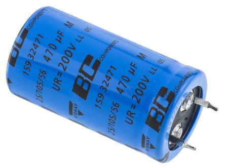 Vishay 470μF Electrolytic Capacitor 200V dc, Through Hole - MAL215932471E3